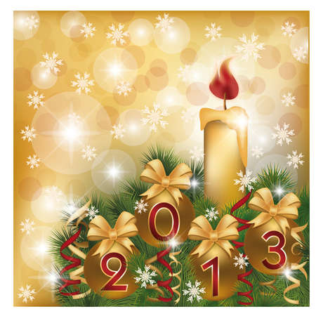 New 2013 Year greeting card, vector illustration Stock Vector - 15921256