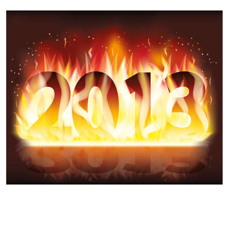 Fire 2013 New year banner, vector illustration Stock Vector - 15921258