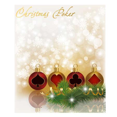 Christmas poker greeting card Illustration
