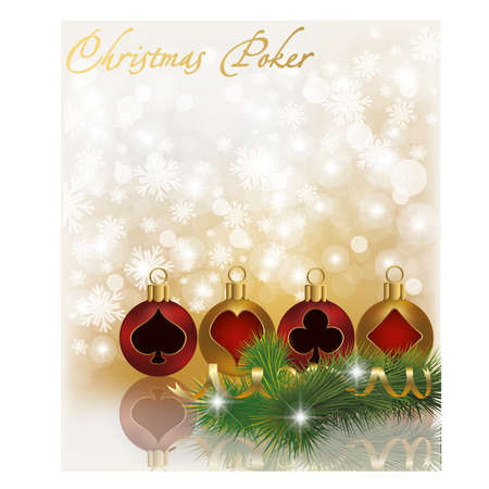 Christmas poker greeting card Stock Vector - 16015359