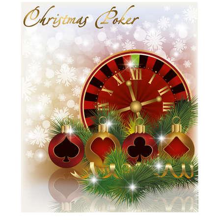 Christmas poker background Stock Vector - 16015364