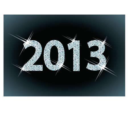 New diamond 2013 Year, illustration Vector