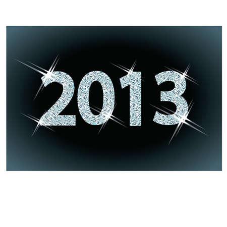scintillate: Nuevo 2013 A�o diamante, ilustraci�n Vectores