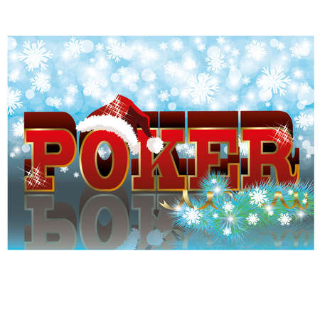 Poker xmas banner, vector illustration Vector