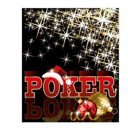 Christmas poker card, vector illustration Vector