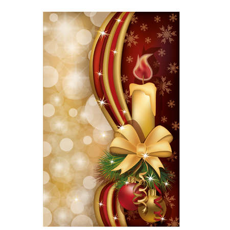 Merry Christmas greeting card, vector illustration Stock Vector - 16402737