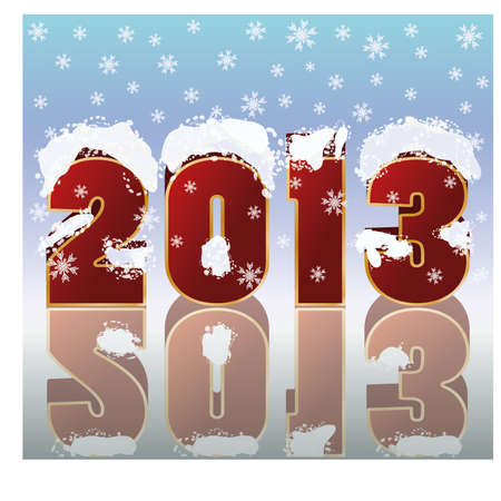 New 2013 year banner, vector illustration Vector