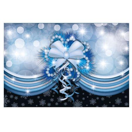 Magical Christmas card,  illustration Vector