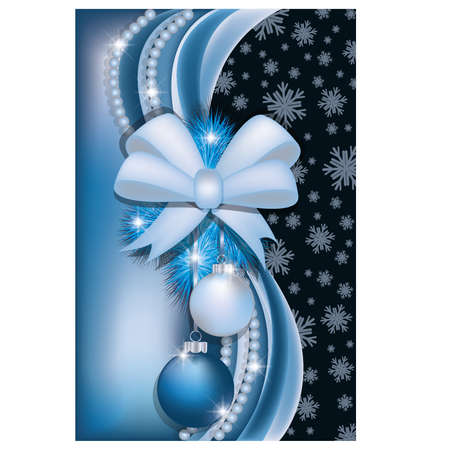 Christmas greeting card, vector illustration Vector