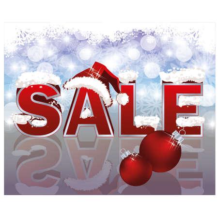 Navidad bandera de la venta, ilustraci�n vectorial