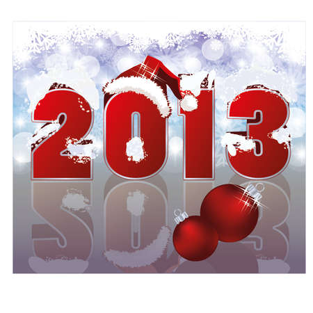 hat new year s eve: New 2013 Year Background, Vector Illustration  Illustration