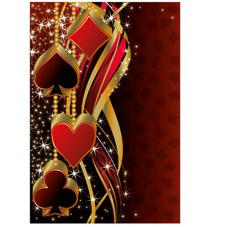 Christmas poker greeting banner, vector illustration