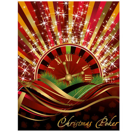 Casino Christmas background, vector illustration Vector