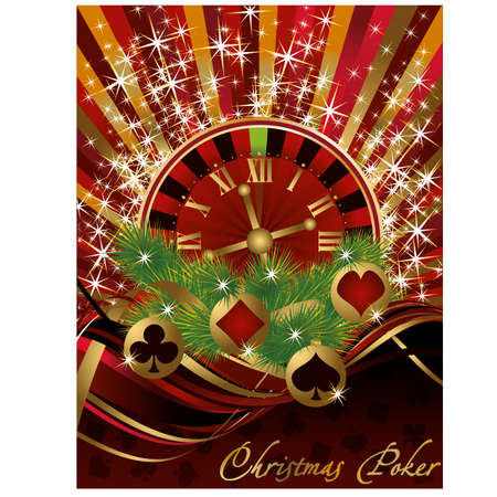 Casino Christmas card,vector illustration Stock Vector - 16549985