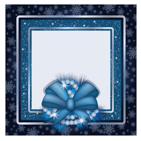 Winter photo frame scrapbooking Vector