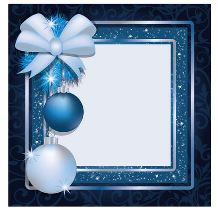 Christmas photo frame scrapbooking Stock Vector - 16572003