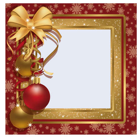 Christmas greeting photo frame scrapbooking  Vector