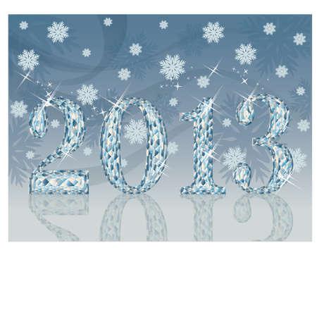 New diamond 2013 Year card, illustration Stock Vector - 16655765