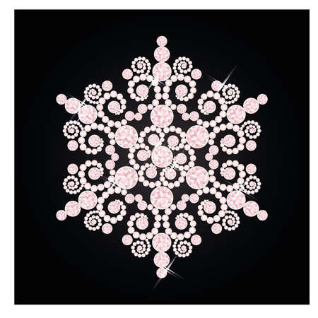 Diamond snowflake, vector illustration Vector