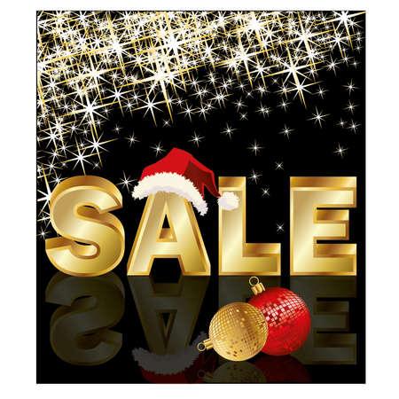 sales floor: Christmas sale, vector illustration