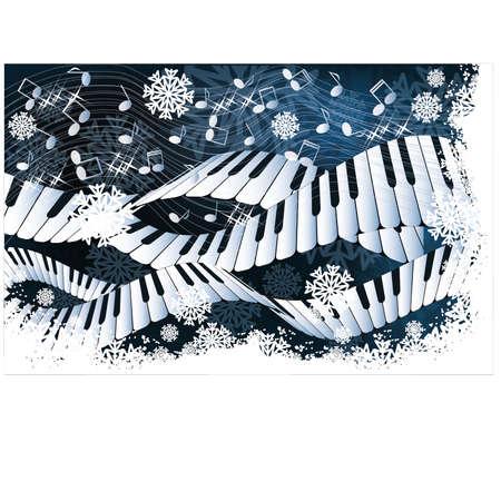 Winter muziekkaart vector illustratie