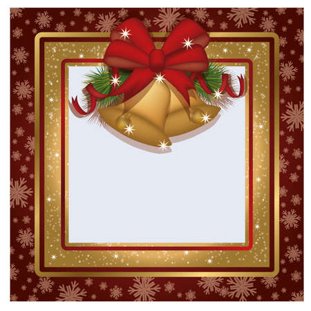 scrap gold: Winter xmas photo frame scrapbooking , vector illustration