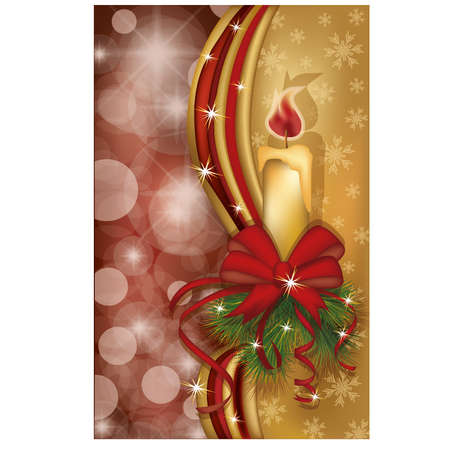 scrap gold: Merry Christmas banner, vector illustration