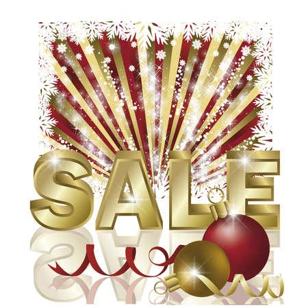 promotional offer: Christmas sale card,  Illustration