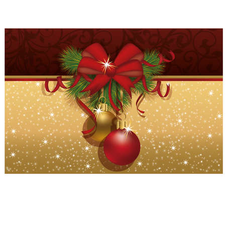 Christmas invitation card,  illustration Vector