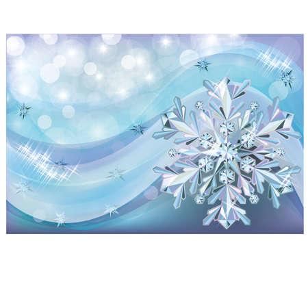 Christmas background with diamond snow Stock Vector - 16962645