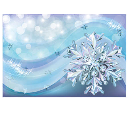 Christmas background with diamond snow Stock Vector - 16962645