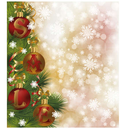 Christmas sale background Stock Vector - 16966138