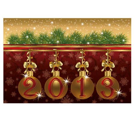 New 2013 year congratulation card Stock Vector - 17006348