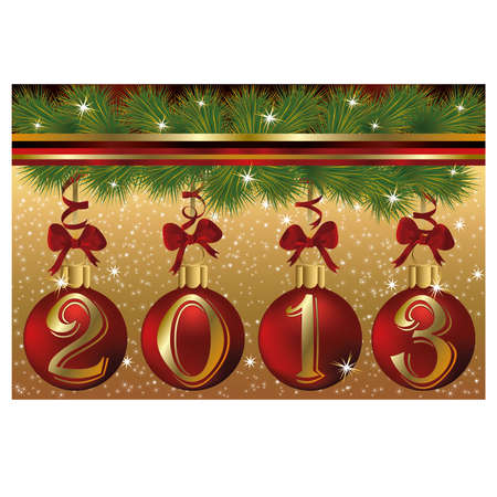 New 2013 year greeting card Stock Vector - 17006339