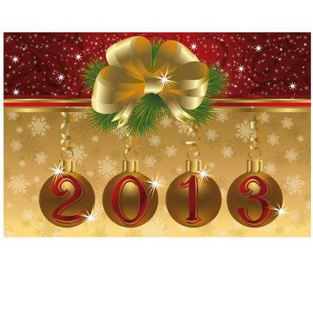 New 2013 year invitation card Stock Vector - 17006350