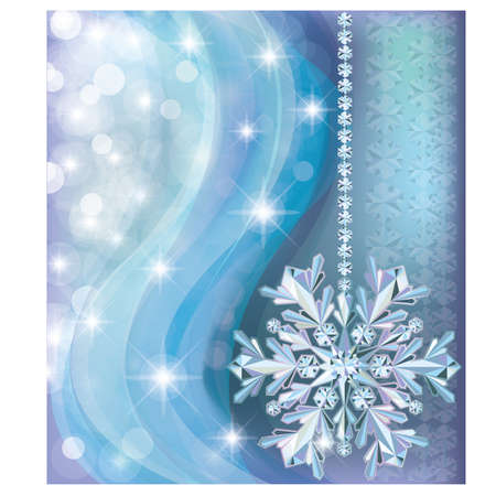 Winter background with diamond snow Vector
