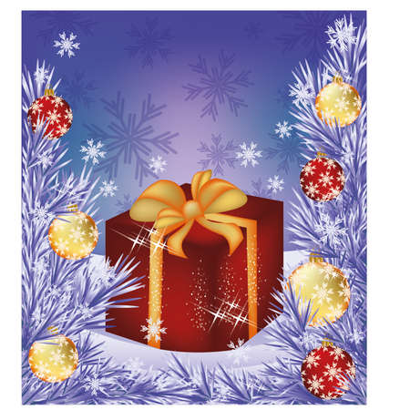 Christmas sale card  Shop box present Vector