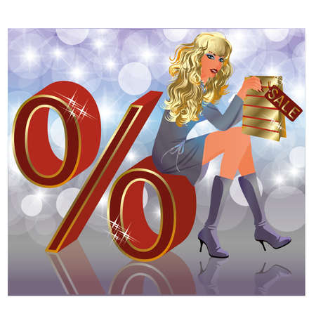 sexy business woman: Sale girl