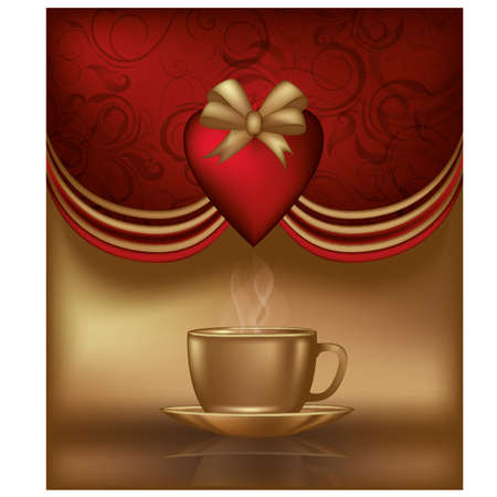 Valentines day invitation card, illustration Stock Vector - 17236414