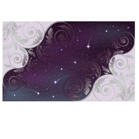 Sparkling nights sky card, vector illustration Vector