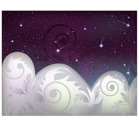 Night sky banner illustration Vector