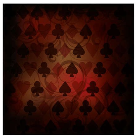 Vintage Poker background, vector illustration Vector