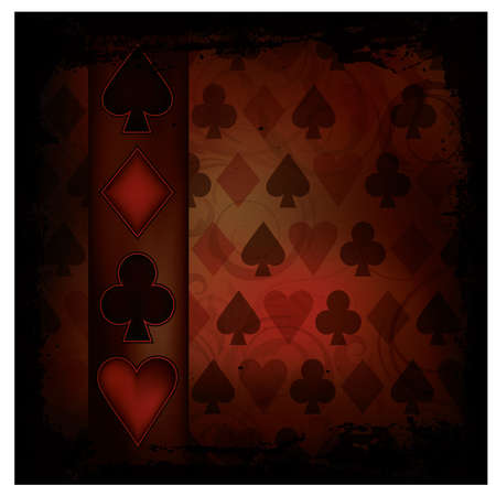 Poker background in vintage style , vector illustration Stock Vector - 17359206