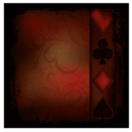 Retro Poker background, vector illustration Stock Vector - 17359205