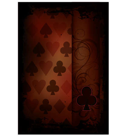 Clubs Poker card in retro style, vector illustration Vector