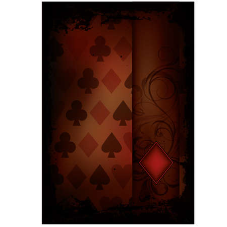 Diamonds Poker card in retro style, vector illustration Vector