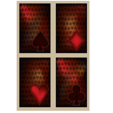 Set Poker cards in vintage style  Vector