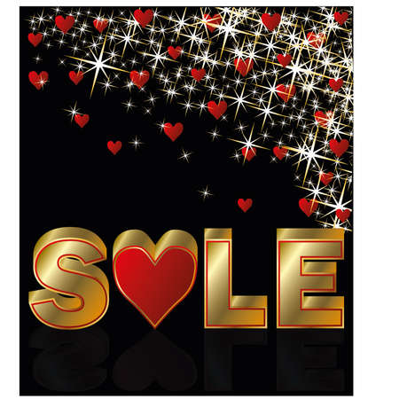 Valentines day sale card,  illustration Vector
