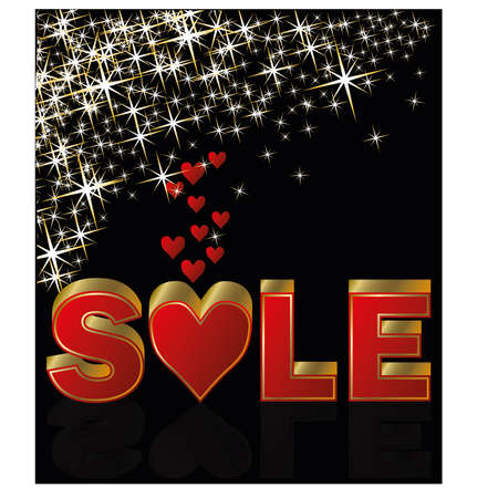 Valentines day sale background,  illustration Vector