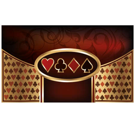 heart suite: Poker business card